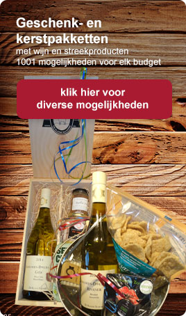 Geschenkpakketten met wijn en streekproducten